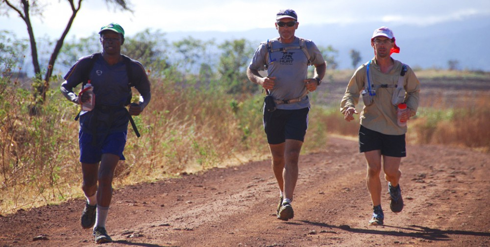KSR 2012 running through the Massai lands