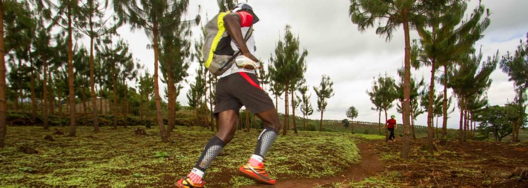 Simon Mtuy running on KSR route