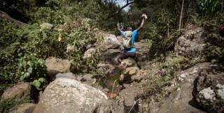 Jumping accross the river