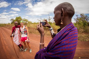 Run & Meet Maasai people on the way